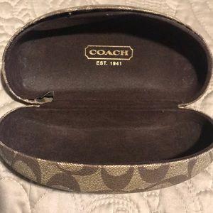 Coach Logo sunglasses case- larger size